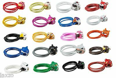 Crazy Stuff Kids Children Bike Cycle Cable Lock With Key 5Mm X 1200Mm Bicycle