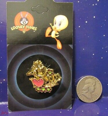 """Looney Tunes Tazmanian Devil """"I Love Mom Pin"""" Mothers Day Gift"""