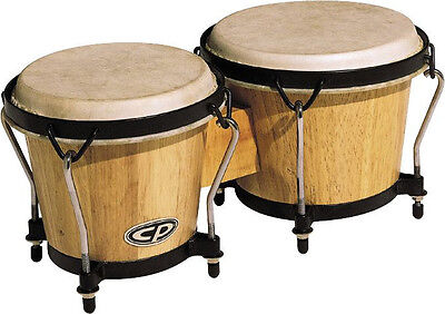 "LP LATIN PERCUSSION BONGOS CP221 AW NATURAL LIGHT WOOD FINISH 6"" & 7"" & Free BAG"