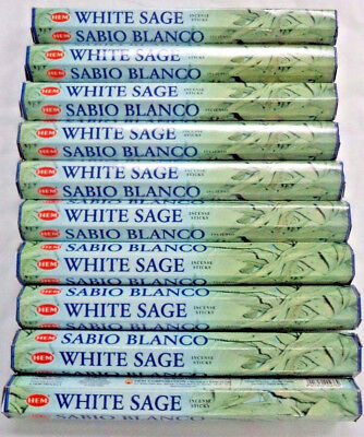 Hem White Sage Incense Wholesale Bulk Lot 10 x 20 Stick Box  = 200 Sticks