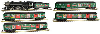 Micro-Trains MTL N-Scale Reindeer Belt Christmas Train Set Steam Loco/4 Cars