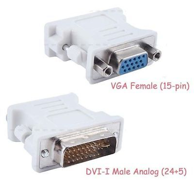 DVI-I male Analog (24+5) to VGA Female (15-pin) Connector Adapter lot wholesale