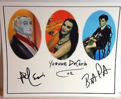 Munsters TV Autograph Lewis/DeCarlo/Pattrick Signed 8x10 Photo by 3 (LHAU-121)