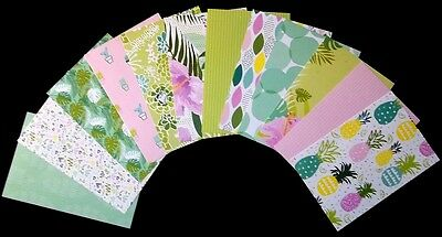 "Colourful Scrapbooking/Cardmaking Papers *TROPICAL OASIS* - 15cm x10cm (6"" x 4"")"