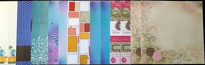 """MIXED PACK of Scrapbooking Papers VARIOUS THEMES x 16  -  30cm x 30cm (12""""x12"""")"""