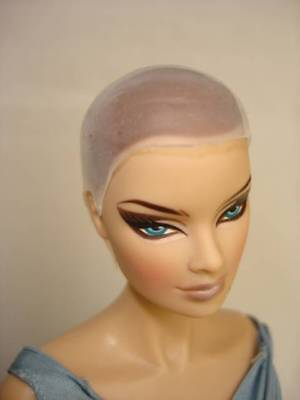 """Wig cap for Fashion Royalty, bald Barbie. Head size 4"""""""