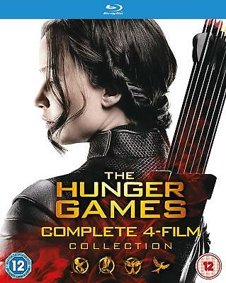 Hunger Games Complete Collection Blu ray Set Catching Fire Mockingjay Part 1 & 2