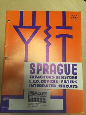 1972 Sprague Catalog ~ Capacitors LED Devices Integrated Circuits Filters