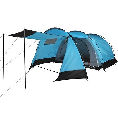 Tunnel Family Tent MAGGIORE with Canopy for 4 man person Campingground Outdoor