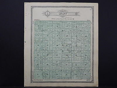 Iowa, O'Brien County, 1911 Plat Map, Grant Township J19#97