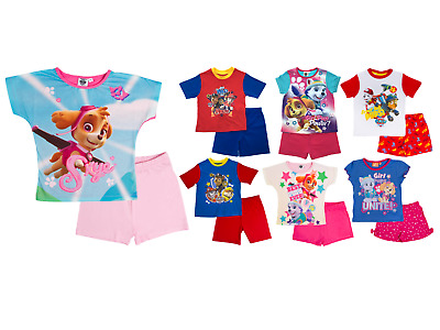 Boys Girls Paw Patrol Pyjamas 2 Piece Character Pjs Short Pyjama Set Kids Size