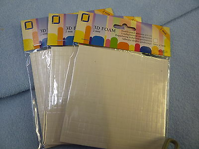 Pack Of 4000 Double Sided Adhesive Foam Pads Sticky Fixers Card Craft Scrapbooks
