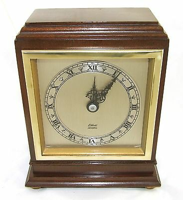 Mahogany Bracket Mantel Clock by ELLIOTT LONDON : Working Order