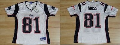 NFL Damen Ladies Football TrikotJersey NEW ENGLAND PATRIOTS Randy Moss 81 Women