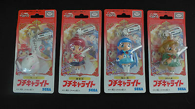 New Vintage 1990's Magic Knight Rayearth SEGA Special 4 Keychain Set Girls + Mok