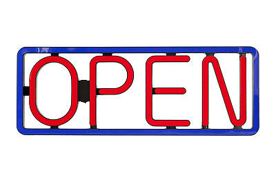 New Horizontal Bright Led Open Sign Red Blue Color Restaurant Bar Liquor N97L