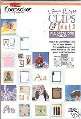 CK Creative Clips & Fonts ALL OCCASIONS COMBO - WOW!!!