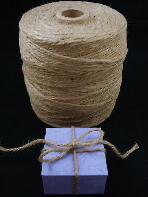 Jute Twine String 315m Roll Natural Craft Floral Wedding Gift Tags FREE POSTAGE
