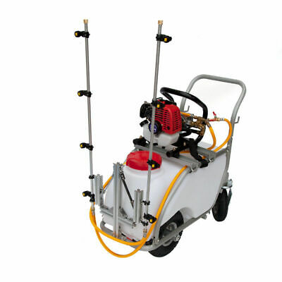 50L Boom Sprayer for Farm Forestry Weed Pest Control Spray Petrol Power Trolley