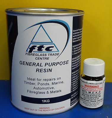 Fibreglass(Polyester) Resin and Hardener - 1Ltr