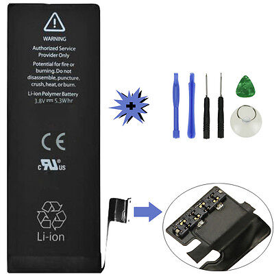 1440mAh Li-ion Battery Replacement with Flex Cable for iPhone 5 5G +Tools  USA