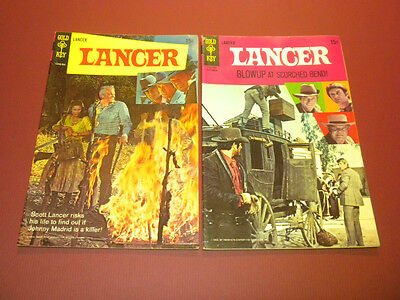 LANCER #1 and #3 Gold Key lot 1969 western tv