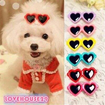 Hot Pet Dog Hair Bows Clips Pet Grooming Love Style Doggie Boutique Sunglasses
