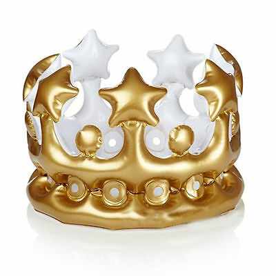 Inflatable Crown Queen For The Day Toys Novelty Party Favour Night Present Decor