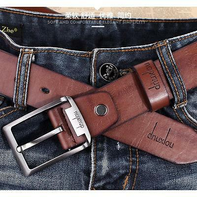 Luxury Men's Alloy Buckle Leather Belt Casual Jeans Waist Strap Waistband New
