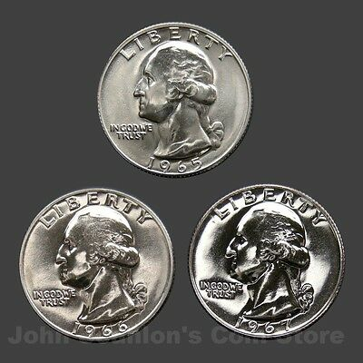 1965/1966/1967 Washington Quarters - SMS Trio