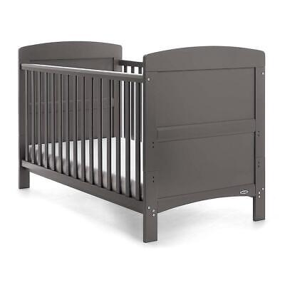 Obaby Grace Cot/Junior Bed (Taupe Grey) With Height Adjustable Base