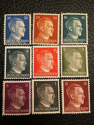 Rare Very Old Antique Vintage WWII NAZI Unused Hitler Stamp Collection Lot