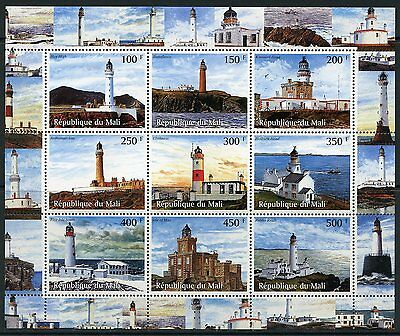 Mali Lighthouses  Sheet Mint  Never Hinged