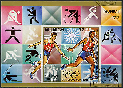 Equatorial Guinea 1972 Olympic Games, Cto Used Imperf M/S #A92631