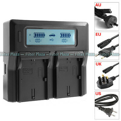 LCD Dual Battery Charger For Canon LP-E6 LC-E6E 5D Mark II III 5Ds 70D 80D 7D 6D