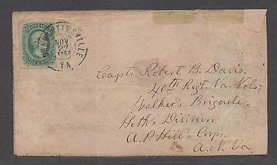 **CSA Cover, SC# 11, Charlottesville, VA, 11/27/1863, Turned Union Patriotic