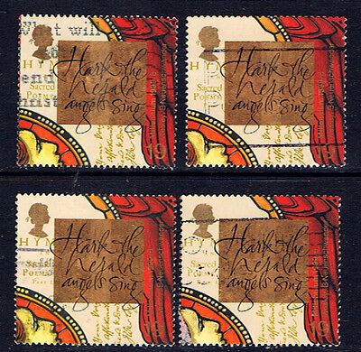 Great Britain #1879(4) 1999 MILLENNIUM SERIES Christians #8 Wesley 4 Used