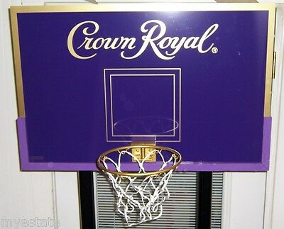 New In Box CROWN ROYAL LARGE BASKETBALL HOOP BACKBOARD & STAND SET Awesome Fun!