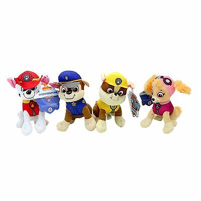 "8"" Paw Patrol Character Rubble Marshall Skye or Chase Stuffed Animal Plush Toy"