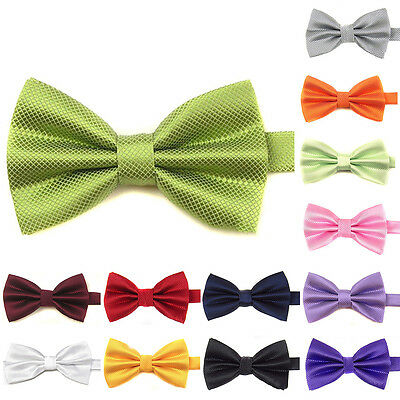 Children Kids Boys Adjustable Pre-Tied Bowtie Satin Wedding Party Bow Tie