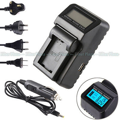 Wall/CAR LCD Battery Charger For Sony NP-FW50 A6300 A6000 A7 II A7R A7S NEX7 USB