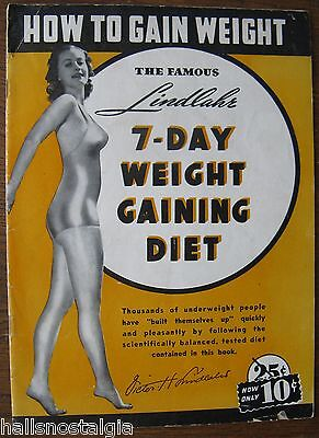 "1938 ""How To Gain Weight"" by Victor H. Lindlahr, Lecturer, Writer, 32-pg booklet"