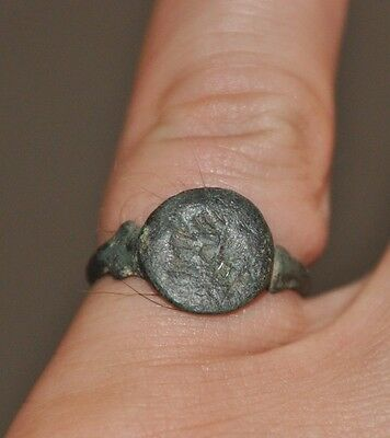 Ancient Roman Empire Soldier Legionary Wearable Bronze Ring Sz US 8.5