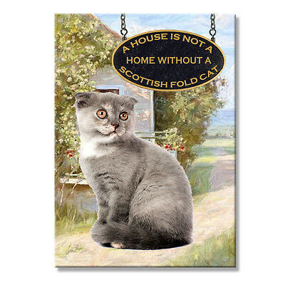 SCOTTISH FOLD CAT A House is Not a Home Fridge Magnet No 2