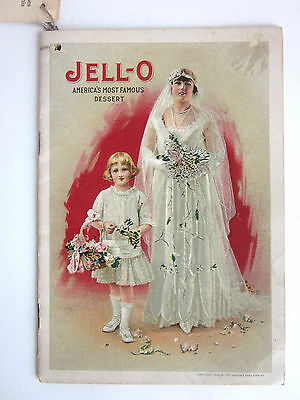 vtg 1916 Jello/Ice Cream Powder Recipe Booklet The Bride Genesee Pure Food