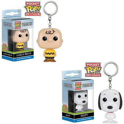 Funko Pocket POP! Keychains - Peanuts - SET OF 2 (Snoopy & Charlie Brown)