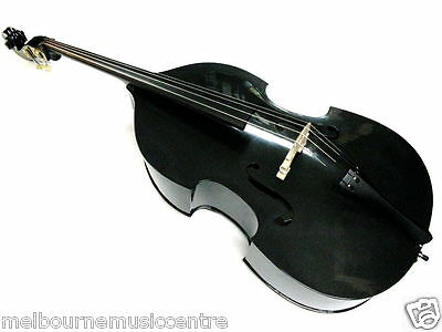 STENTOR 3/4 DOUBLE BASS Plywood Arched Top Back & Sides *Deluxe Padded Bag* NEW!