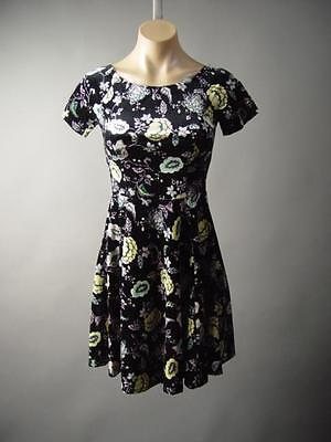 Black Velvet Romantic Floral Goth Rock 90s Grunge Skater 176 mv Dress XS/S S/M