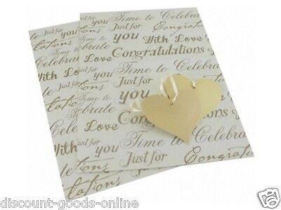 2 Sheets Of Congratulations Gift Wrap With 2 Gift Cards