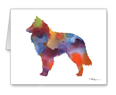 BELGIAN SHEEPDOG note cards by watercolor artist DJ Rogers